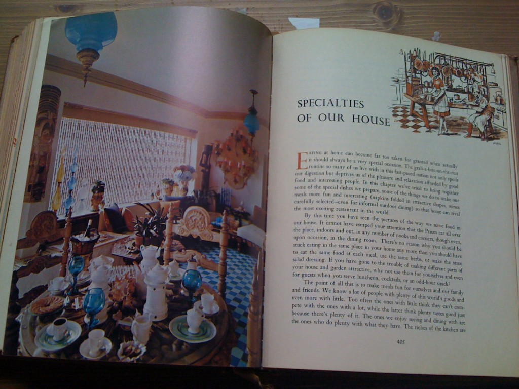 A Treasury Of Recipes - Vincent & Mary Price - At The Prices' House