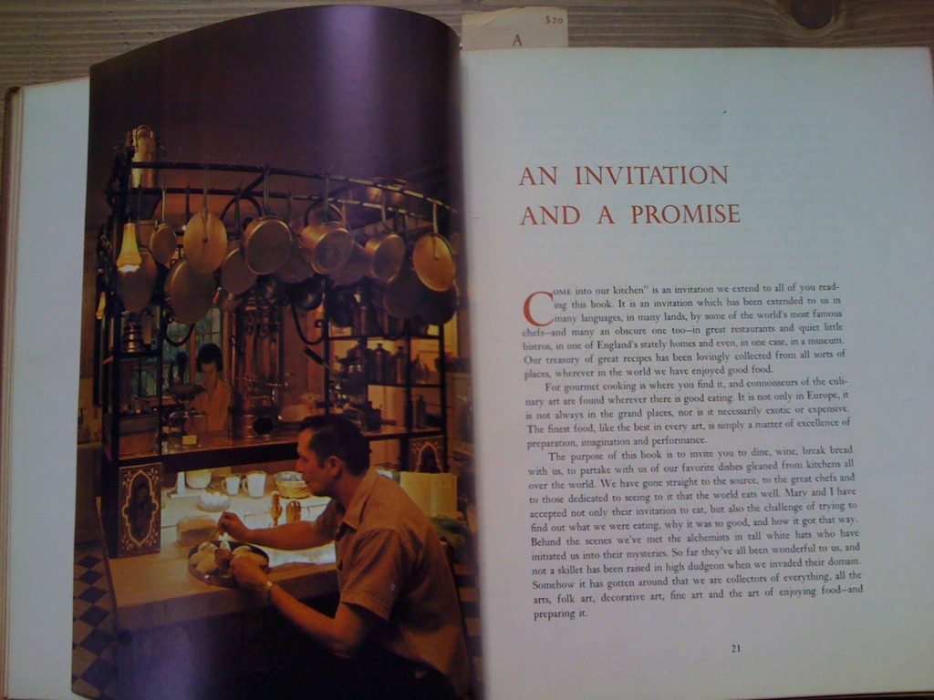 A Treasury Of Recipes Intro - Vincent & Mary Price