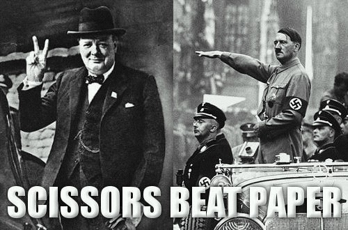 Scissors Beat Paper (Original creator unknown)