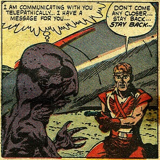 Panel from Atlas Comics' Menace, issue 7