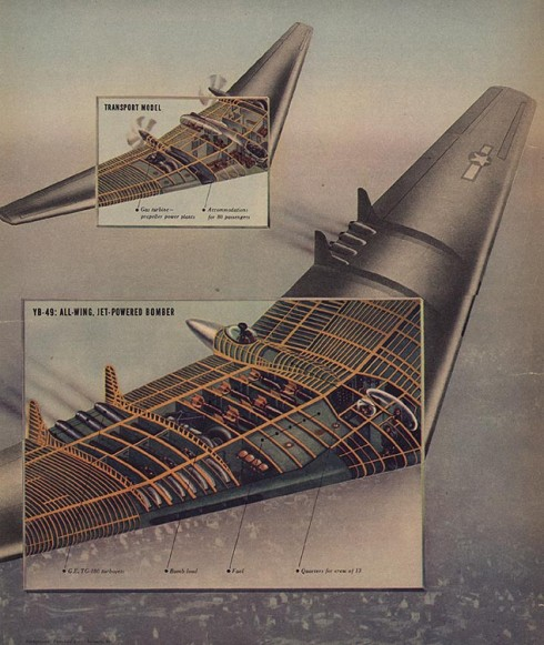 Northrop Flying Wing Diagram