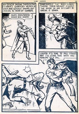 Johnny Canuck punches Hitler