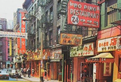 1960s Chinatown New York City Vintage Photo Postcard