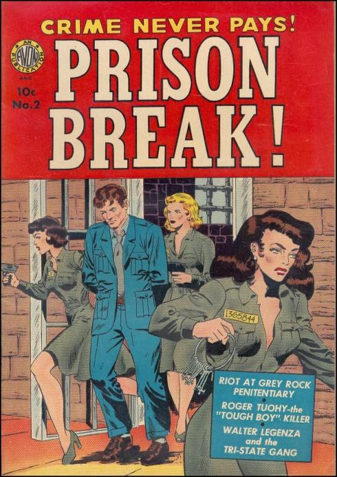 Prison Break! #2, December 1951. Cover art by Wally Wood - found at http://fantasy-ink.blogspot.ca/2011/06/prison-break.html
