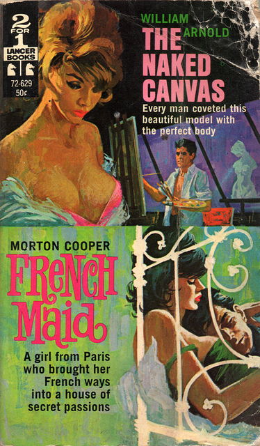 The Naked Canvas/French Maid pulp covers