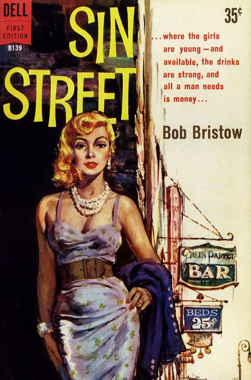 Sin Street (Prostitute Pulp Cover)
