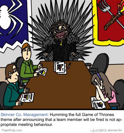 Skinner Co 54: In the Game of Board Chairs, You Win Or You Die