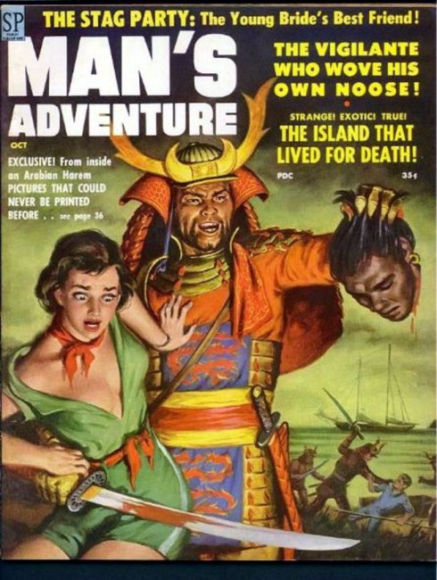 Man's Adventure (Samurai Decapitation Pulp Cover)