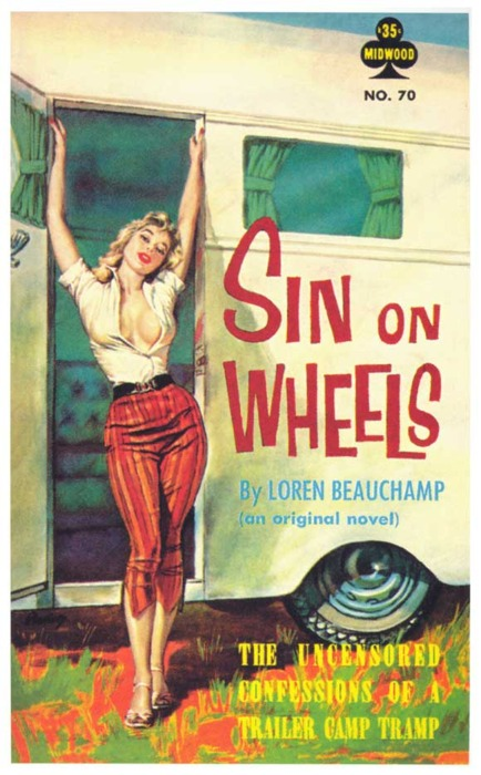 Sin On Wheels (trailer trash pulp cover)