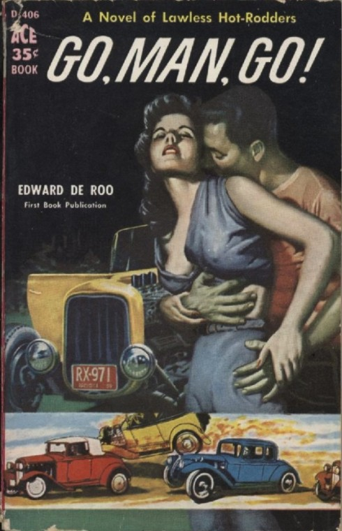 Go, Man, Go! Hot Rod Pulp Cover