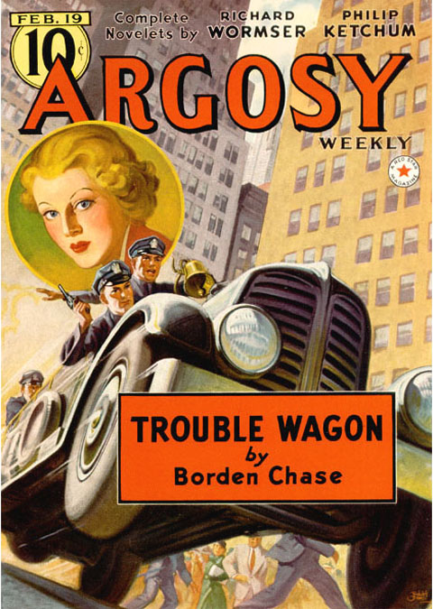 Argosy - Trouble Wagon by Chase - car chase pulp cover