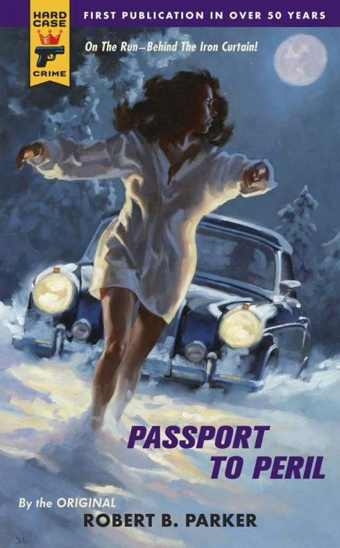 Passport To Peril - Robert B. Parker - Pulp Cover - Car Chasing Woman