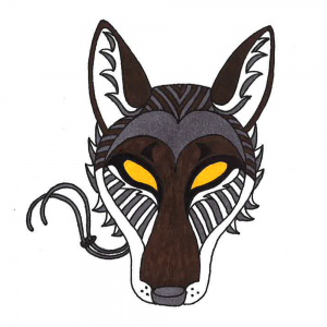 The Wooden Coyote Mask